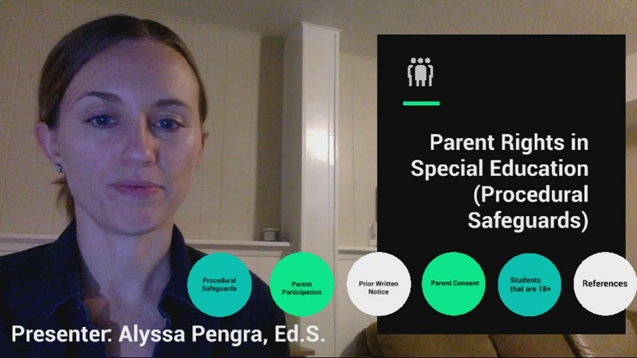 Alyssa Pengra provides professional learning for teachers on parent rights in special eduation.