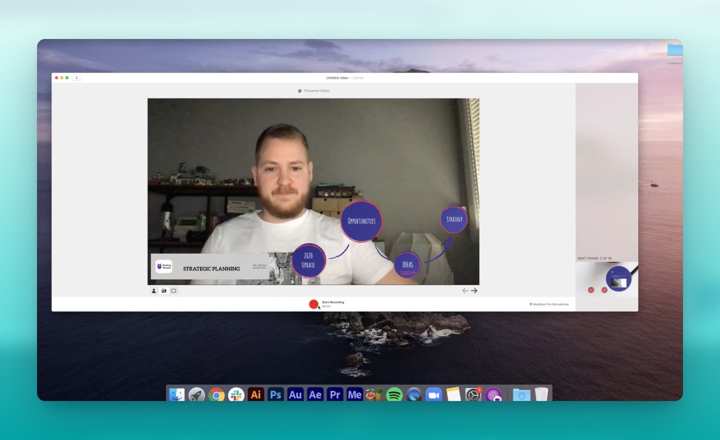 how to import a presentation in the prezi video app