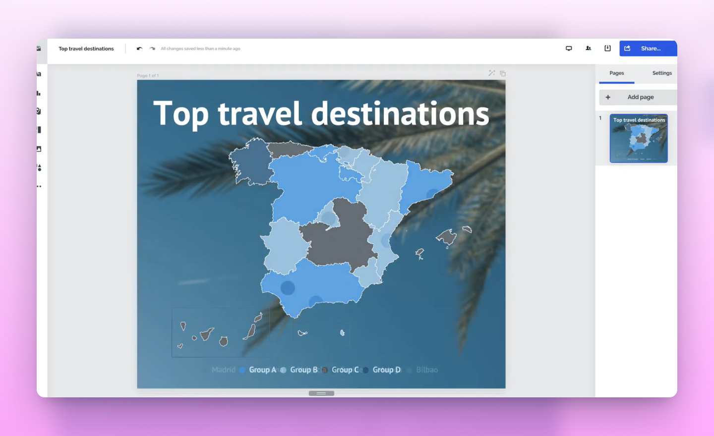 add a map in prezi design