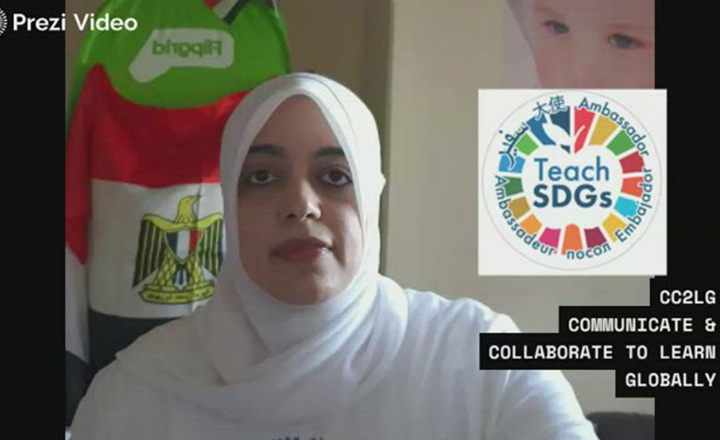 Rania uses various Microsoft tools to teach hers tudents how to communicate and collaborate on a global scale.