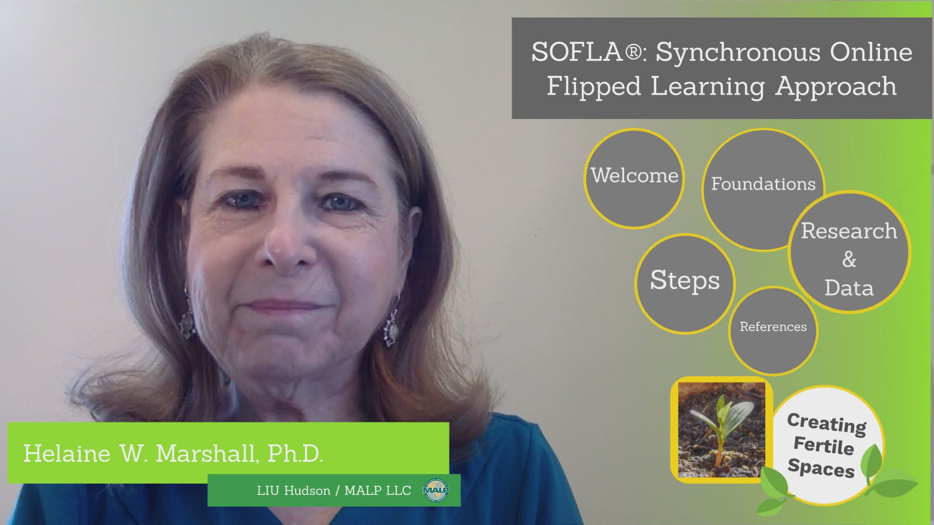 Helaine Marshall reviews the 8 steps to SOFLA (Synchronous Online Flipped Learning Approach).