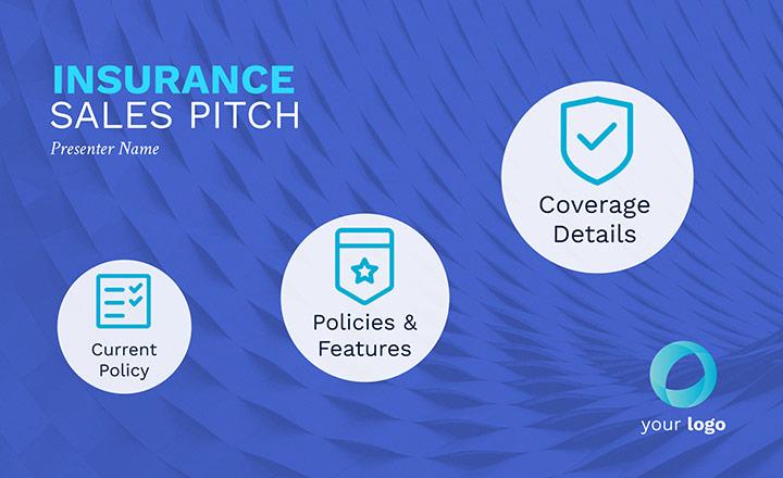 blaues Vorschaubild für Versicherungs-Pitch-Vorlage