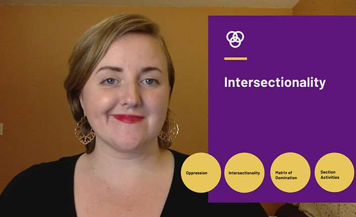 Sociology professor Elizabeth East introduces the topic of intersectionality as well as oppression, suppression and the Matrix of Domination.