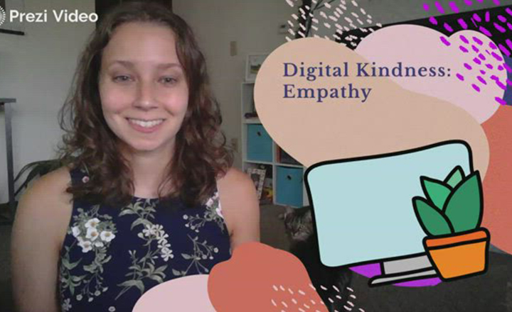 Teacher Hannah Weinstein prepares her students for online learning by leading them in a lesson on digital kindness and empathy.
