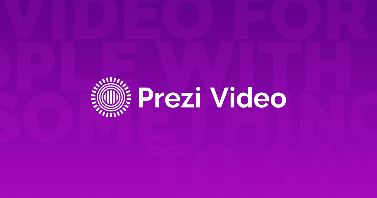 Video presentation maker: Create videos online   Prezi Video