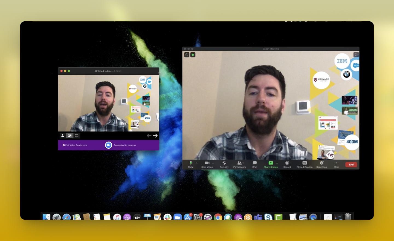 So verwenden Sie Prezi Video mit Zoom auf Mac