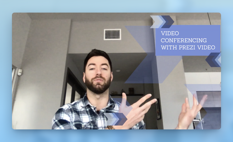 So verbinden Sie Prezi Video mit einer Plattform für Videokonferenzen