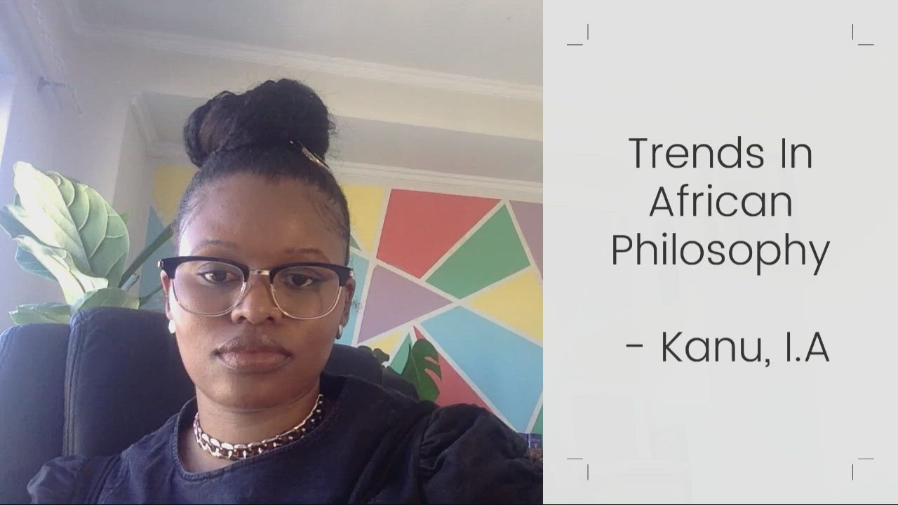 Professor Lembethe reviews trends in African philosophy in a series of lectures for her students.