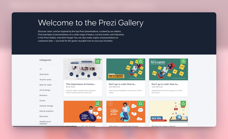 presentation gallery
