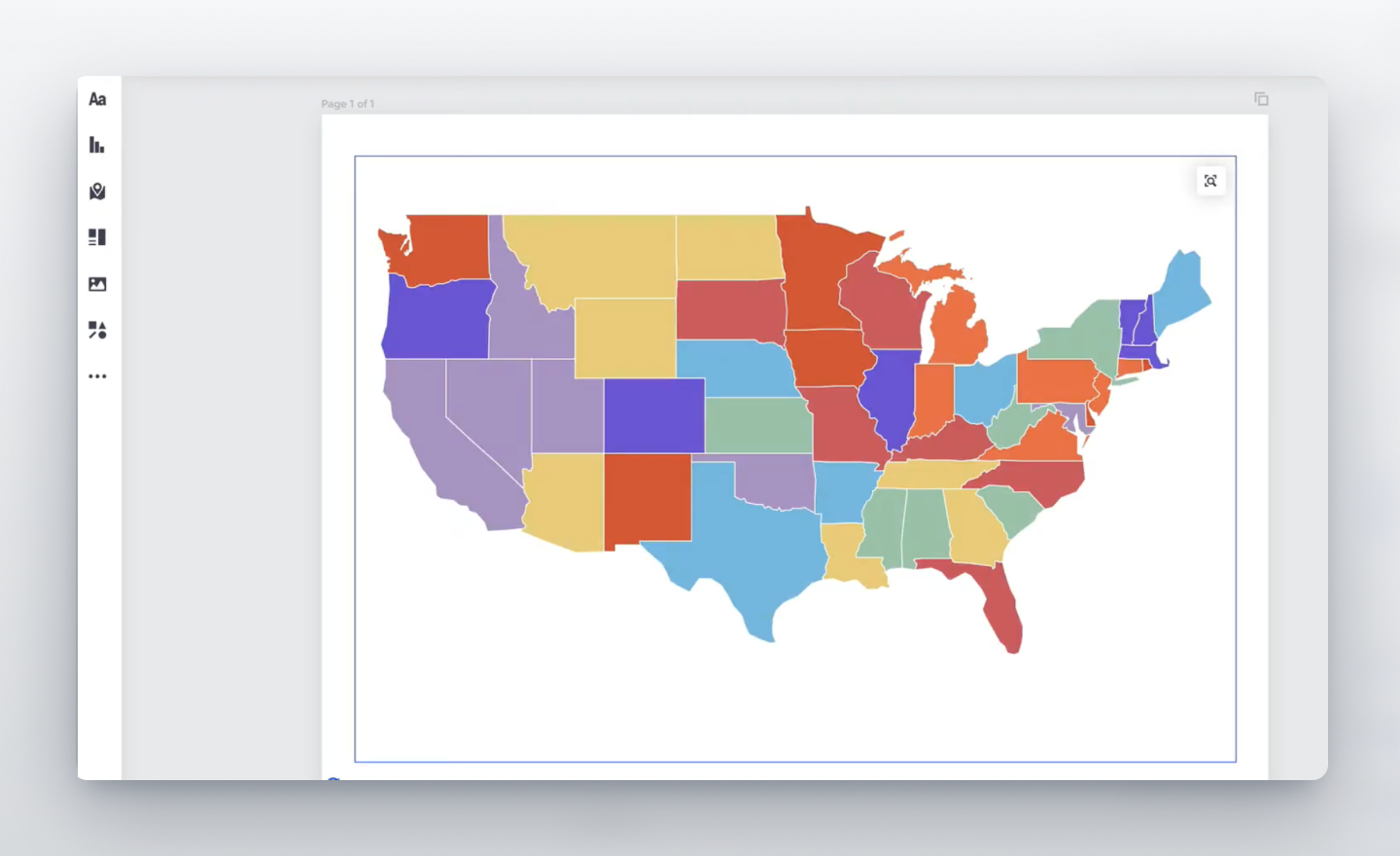 customize a map in Prezi Design
