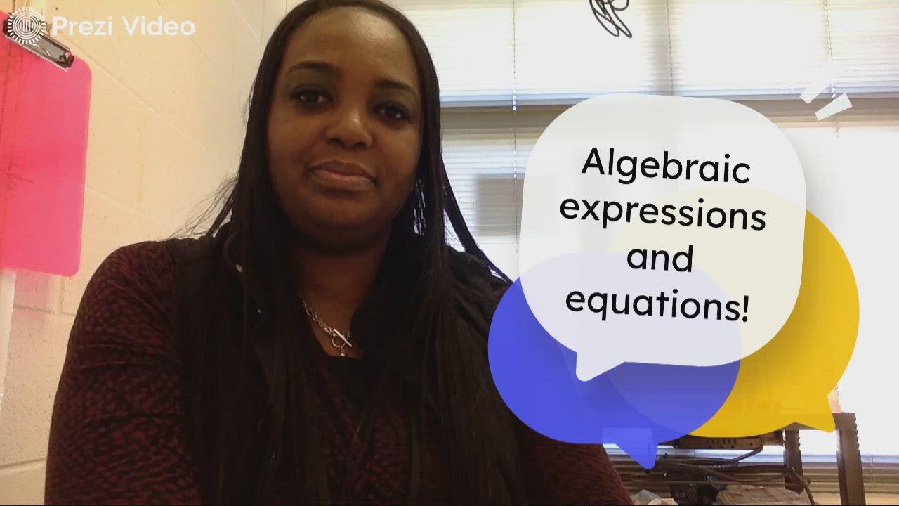 Math teacher Jasmine Kilgore reviews key math vocabulary with her students.
