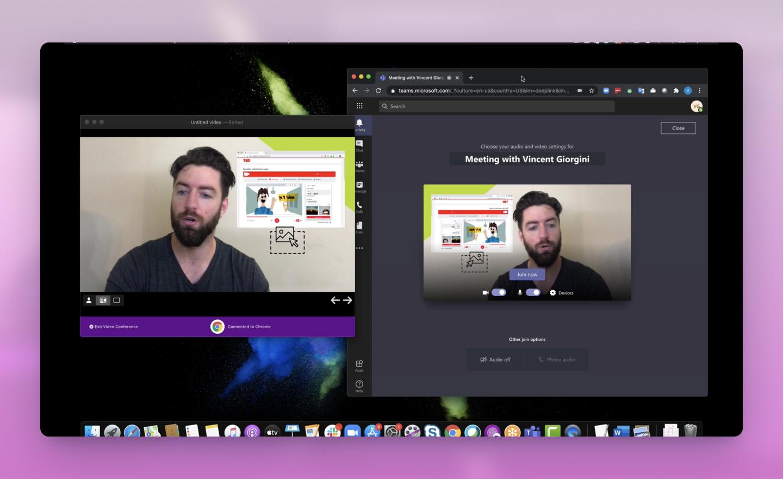 So verwenden Sie Prezi Video mit Microsoft Teams auf Windows