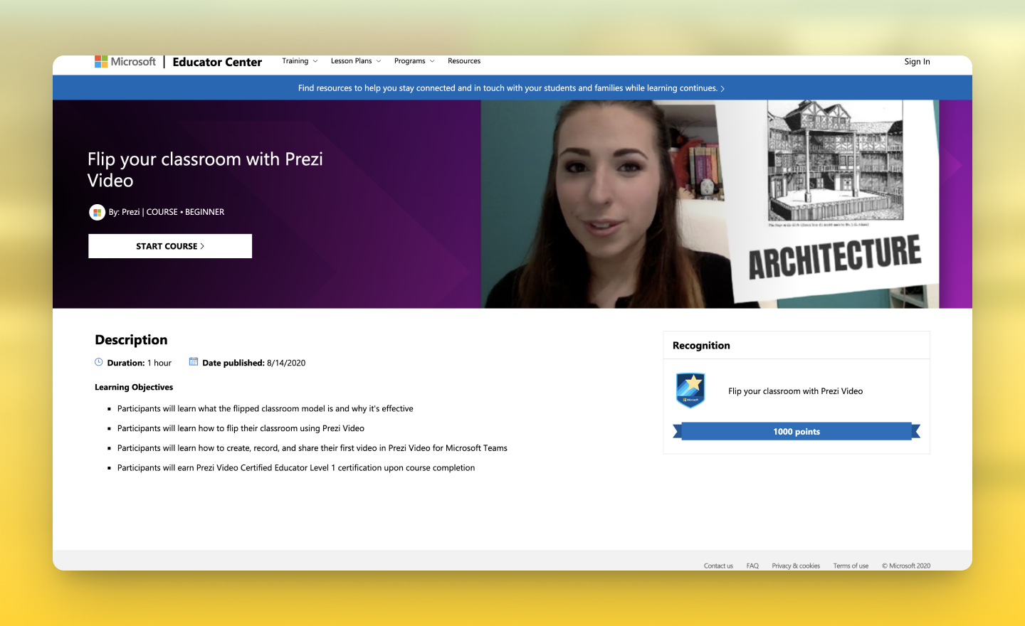 flip your classroom with Prezi Video and Microsoft