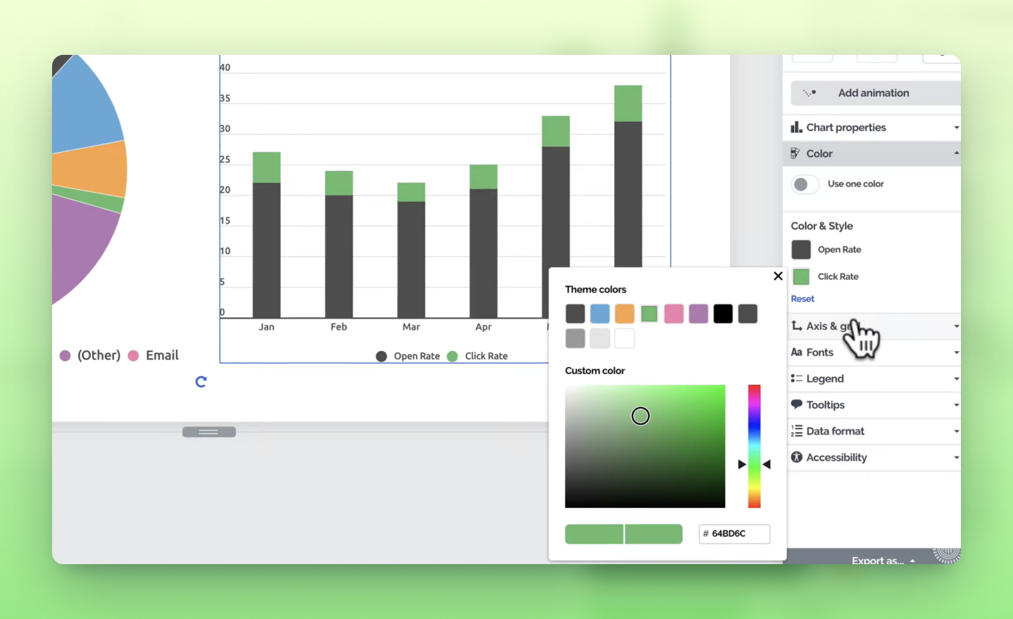 customize a chart in Prezi Design