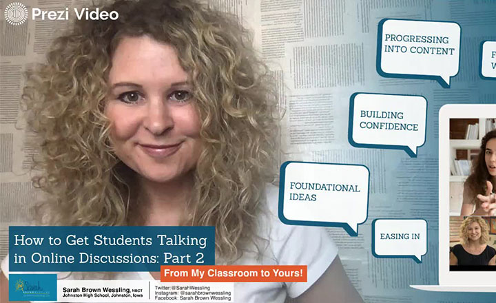 Sarah Brown Wessling provides scaffolding strategies for three different kinds of lessons to get students working in groups again, even in an online environment.