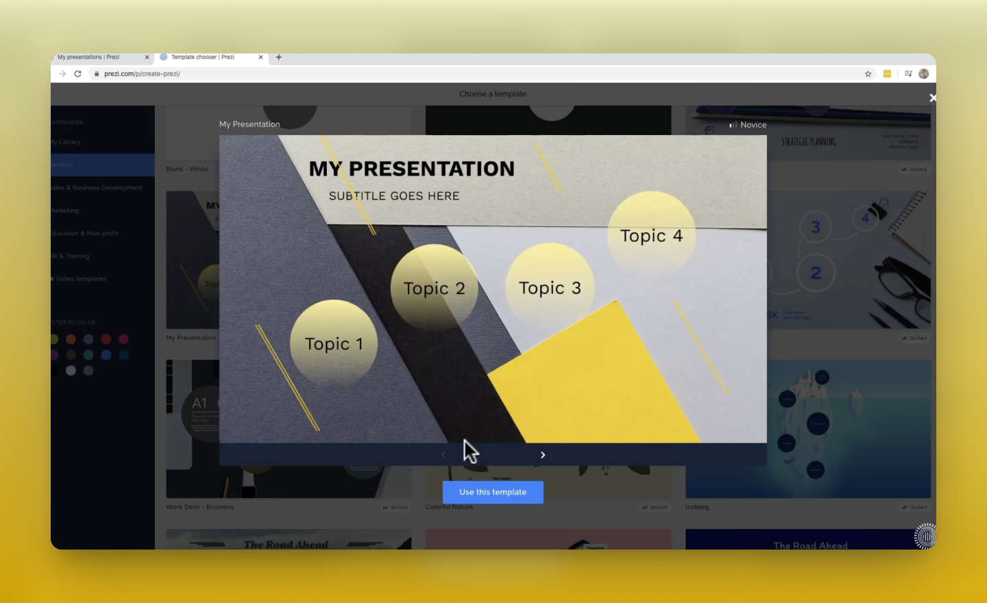 get started with Prezi Present