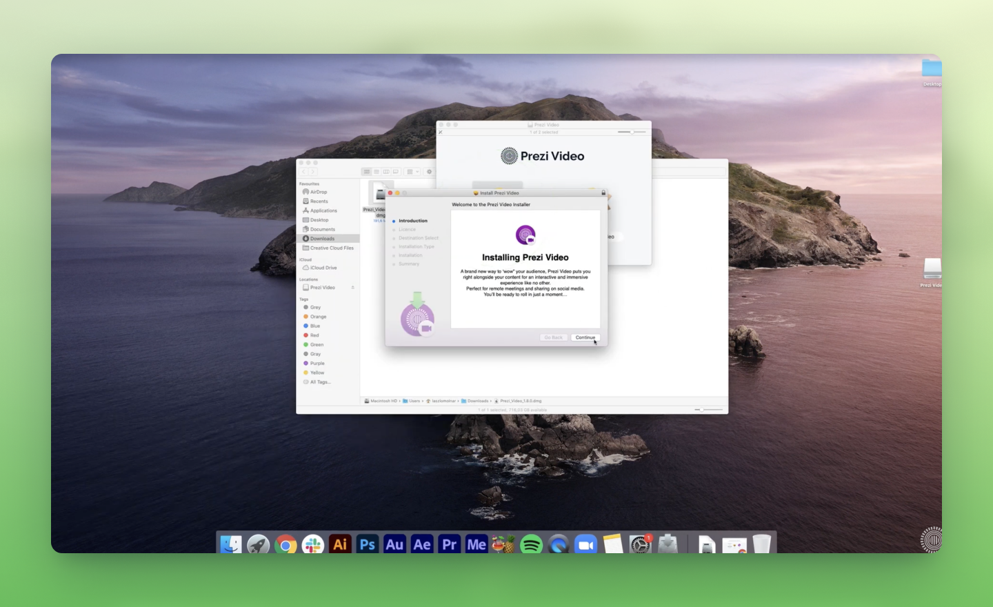 how to install the Prezi Video app on Mac
